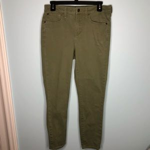 J. Crew Mercantile Olive Colored Skinny Jeans 29